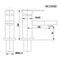 Смеситель для раковины (умывальника) Nord Creek NC12030