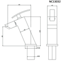Смеситель для раковины (умывальника) Nord Creek NC13032