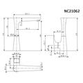 Смеситель для кухни (мойки) Nord Creek NC21062