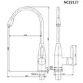 Смеситель для кухни (мойки) Nord Creek NC22127