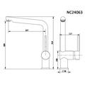 Смеситель для кухни (мойки) Nord Creek NC24063